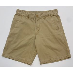 The North Face Flat Front Khaki Outdoor Shorts W32
